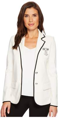 Lauren Ralph Lauren Bullion-Embroidered Knit Blazer Women's Jacket
