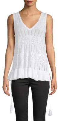 BCBGeneration Pointelle Tank Top