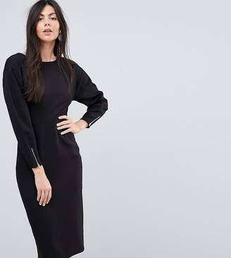 6b7cb774cf Asos Tall TALL Long Sleeve Midi Pencil Dress