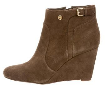 Tory BurchTory Burch Suede Round-Toe Booties