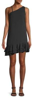 Ali & Jay Bar Nineteen Asymmetric Ruffle Mini Dress