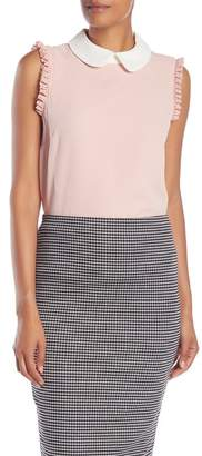 Cynthia Steffe CeCe by Sleeveless Collared Blouse