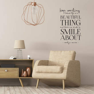 Monroe leonora hammond Marilyn 'Smile' Wall Sticker