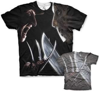 Freddy Nightmare On Elm Street Officially Licensed Merchandise Vs Jason Allover T-Shirt