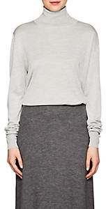 The Row Women's Donnie Silk Turtleneck Sweater - Silver