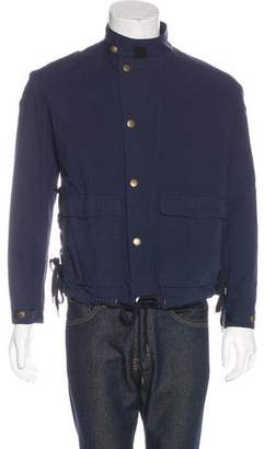 Robert Geller Woven Tie-Accented Jacket