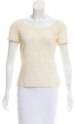 Cacharel Short Sleeve Broderie Anglais Top