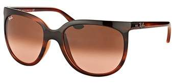 Ray-Ban Cats 1000 Rb 4126 820/a5 Stripped Havana Cat Eye Sunglasses.