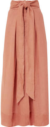Kalita - Avedon Days Linen-canvas Maxi Skirt - Brown