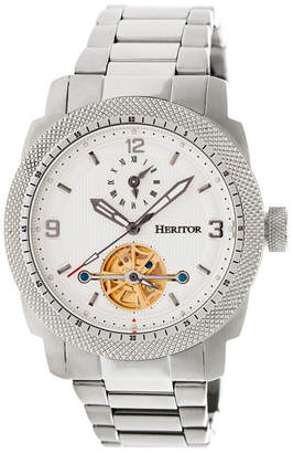 Heritor Automatic Helmsley Silver & White Stainless Steel Watches 45mm