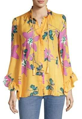 Etro Flower Ruffle Blouse