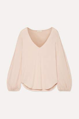 Skin Kirsten Organic Pima Cotton-jersey Pajama Top