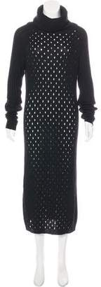Blumarine Turtleneck Knit Dress