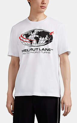 "Helmut Lang Men's ""As The World Turns"" Cotton T-Shirt - White"