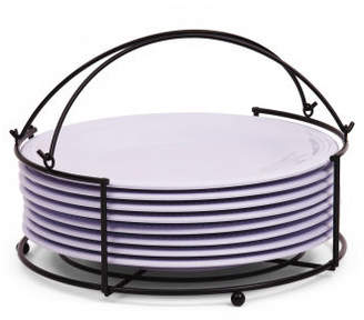 Set Of 8 Party Plates With Rack