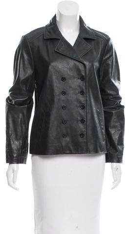 MICHAEL Michael KorsMichael Kors Leather Notch-Lapel Jacket