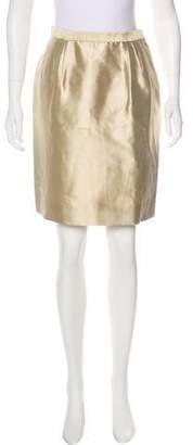 Oscar de la Renta Vintage Satin Skirt
