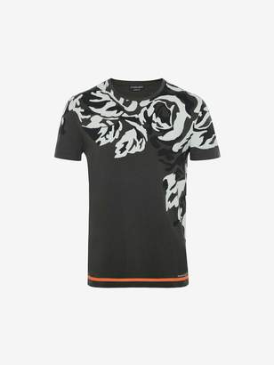 Alexander McQueen Camouflage Rose Print T-Shirt