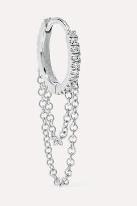 Maria Tash 8mm 18-karat White Gold Diamond Hoop Earring