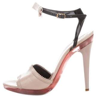 Chloé Bow-Accented Ankle Strap Sandals