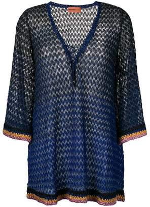 Missoni Mare patterned v-neck dress