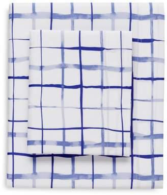 bluebellgray Watercolor Plaid Sheet Set, Queen