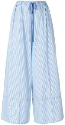 Fendi wide-leg striped trousers