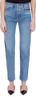 Off-White Off White Straight Leg Vintage Bi-Color Jeans