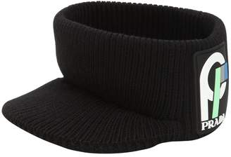 Prada Wool Ribbed Knit Visor