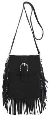 Maje Fringed Suede Shoulder Bag