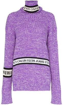 Calvin Klein Jeans Est. 1978 turtleneck wool logo sweater