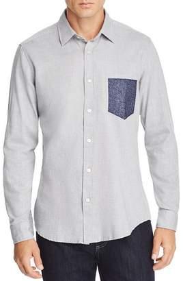 BOSS Reggie Contrast Faux-Pocket Regular Fit Flannel Shirt
