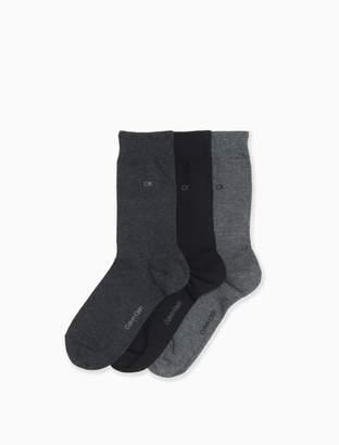 Calvin Klein 3-pack mercerized cotton stretch crew socks
