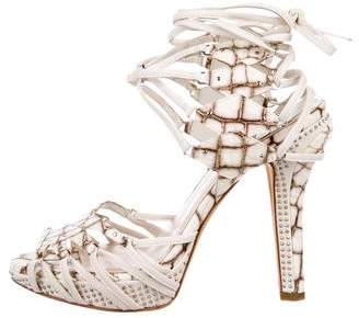 Christian Dior Embossed Studded Sandals