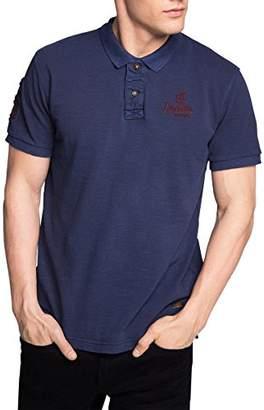 Esprit Men's Polo Short Sleeve Polo Shirt - Blue