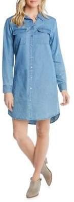 Karen Kane Long-Sleeve Denim Shirtdress