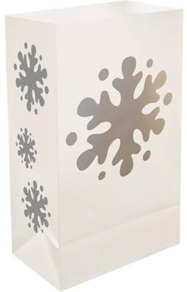 LumaBase Luminarias LumaBase Plastic Luminaria Bags, 12 Count Snowflake