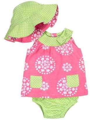 Gerber Toddler Girl Dress, Panty & Reversible Hat, 3-piece Set