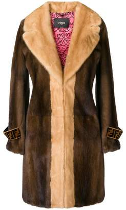 Fendi fur midi coat