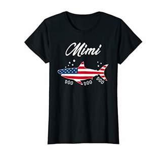 Womens American Flag Mimi Shark Tshirt Patriotic 4th of July Gifts