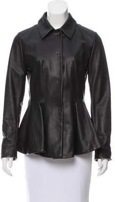 Marni Structured Leather Jacket