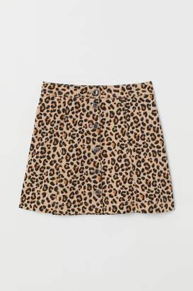 H&M A-line Skirt - Beige