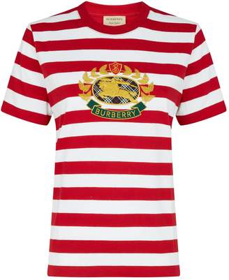 Burberry Striped Detail Logo T-Shirt