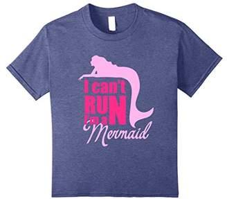 I Can't Run I'm a Mermaid T-Shirt Funny Pink Design