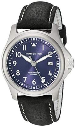 Momentum Men's 'Atlas 38' Quartz Titanium and Leather Watch