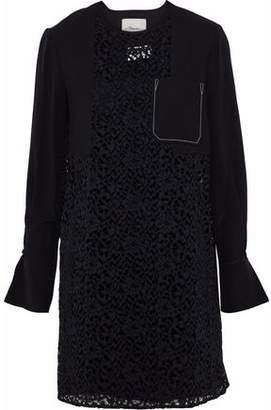 3.1 Phillip Lim Silk-Paneled Corded Lace Mini Dress