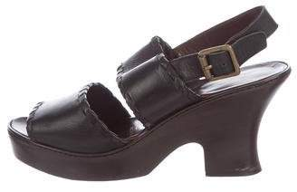 Prada Leather Strap Sandals