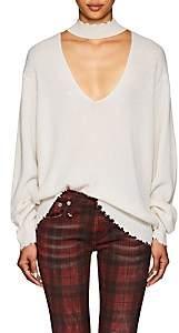 R 13 Women's Rib-Knit Cashmere Choker Sweater-Ivorybone