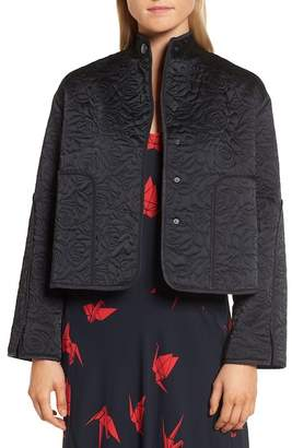 Lewit Floral Quilted Satin Jacket
