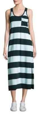 ATM Anthony Thomas Melillo Striped Mercerized Cotton Dress